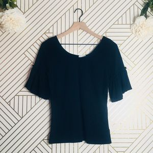 T.la | Anthropologie Flare Sleeve Top
